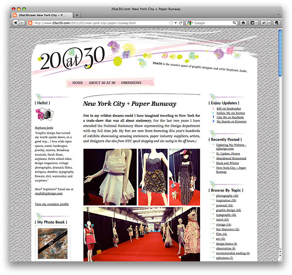 20at30.com Website