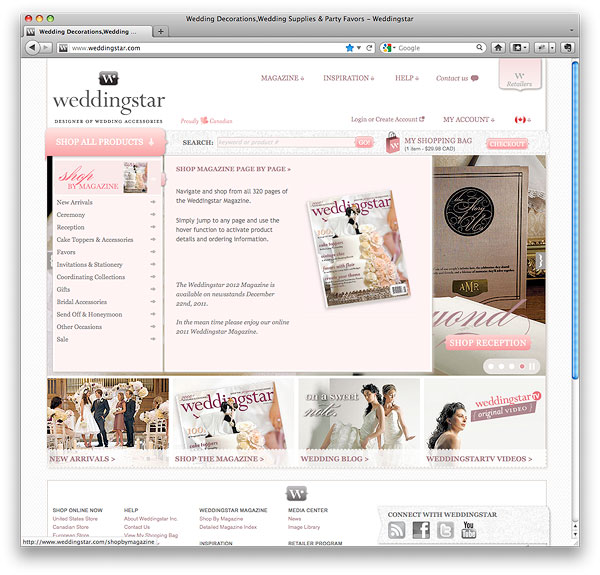 weddingstar.com Navigation