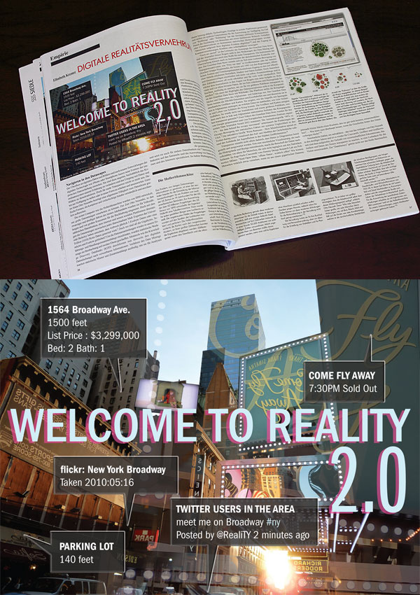 Augmented Reality Graphic for ARCH+ Periodical